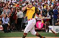 Mark Trumbo competes in semifinals of '16 T-Mobile -HRDerby. (28463500702).jpg