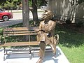 Mark Twain statue, Garden City, KS IMG 5875.JPG