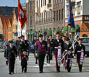 Markens and Mathismarkens buekorps at Bryggen