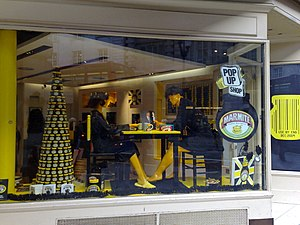 Pop-up retail - Marmite pop-up shop in London