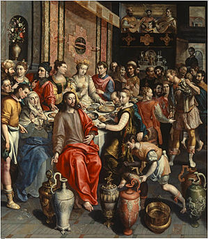 Marriage at Cana - The Marriage at Cana by Maerten de Vos, c. 1596