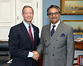 Martin O'Malley and Pakistan Ambassador to the US, Jalil Abbas Jilani 2014.jpg