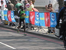 Mary Keitany Winning the London Marathon 2011.jpg