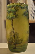 Maryhill Museum - Daum Frères vase with trees 02