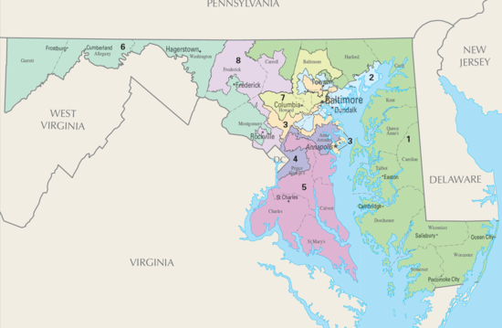maryland senate district map United States Congressional Delegations From Maryland Wikipedia maryland senate district map