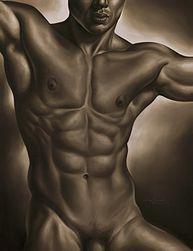 Matías Argudín -Desnudo Masculino en Sepia-