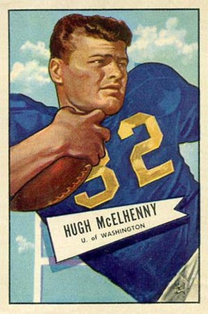 Hugh McElhenny - McElhenny depicted with Washington