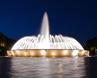 Hermann Park - Mecom fountain at night
