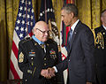 Medal of Honor ceremony in honor of retired Command Sgt. Maj. Bennie Adkins and Spc. 4 Donald Sloat 140915-A-AJ780-010.jpg