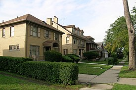 Medbury's–Grove Lawn Subdivisions Historic District along Puritan Avenue