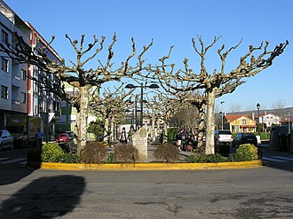 Melide, A Coruña - Ayuntamiento square of Melide