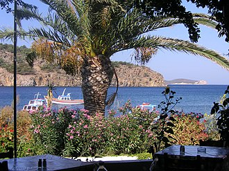 Patmos - The beach of Meloi, within walking distance of Skala