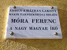 Memorial tablet Móra Ferenc.JPG