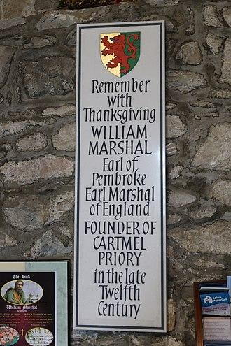 William Marshal, 1st Earl of Pembroke - Memorial in Cartmel Priory
