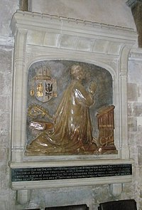 Memorial to a former bishop of the diocese in Chichester Cathedral - geograph.org.uk - 1140432.jpg
