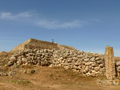 Megalithic temple of Monte d'Accoddi in Sardinia