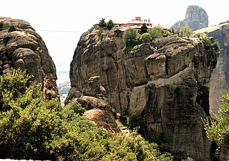 Monastery of the Holy Trinity, Meteora - Image: Meteora Agios Triada 2