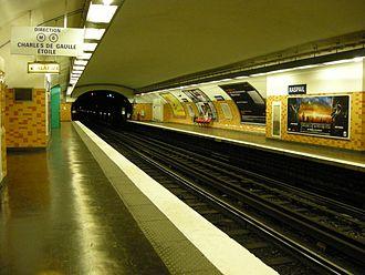 Raspail (Paris Métro) - Image: Metro Raspail Ligne 6