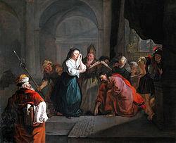 Gabriël Metsu: Christ and the Woman taken in Adultery
