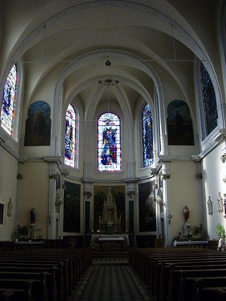 Saint Simon and Saint Jude church in Metz (Moselle, France); interior