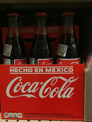 Mexican Coke - Mexican Coke is often sold in United States due to the popularity of its different ingredient makeup. It is so well known that it can be sold in its authentic packaging