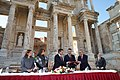 Mexican President visiting the Celsus library in EphesusCelsus library in Ephesus, Turkey2.jpg
