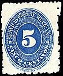 Mexico 1887 5c perf 12x6 Sc209 unused.jpg