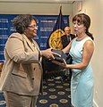 Mia Mottley and Alison Kodjak at the National Press Club.jpg