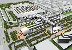 Miami Airport Station - Rendering of the completed Miami Intermodal Center project