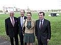 Michael Czupalla, John B. Emerson, Kimberly Emerson, and Vladimir M. Grinin - Elbe Day 2015 in Torgau.jpg