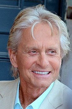 Michael Douglas - the cute, charming, kind,  actor  with French, Irish, Scottish, Jewish, Belgian, English, Dutch, Welsh,  roots in 2017
