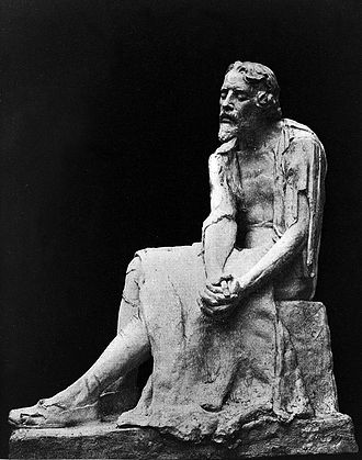 Michael Servetus - Michael Servetus in prison, by Clothilde Roch. Monument in Annemasse, France.