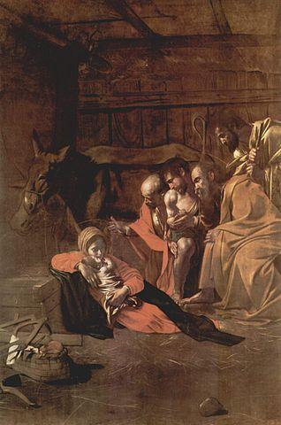 La adoración de los pastores de Caravaggio 318px-Michelangelo_Caravaggio_004