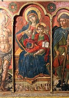 Trittico della Collegiata (1510) di Michele Greco da Valona