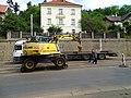 Michle, U plynárny, rekonstrukce TT, nakládání kolejnic (01).jpg