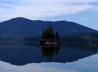 Saranac River - Image: Middle Saranac Lake Stony Creek Mtn