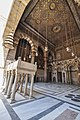 Mihrab (marking the direction of the Kaaba in Mecca) - Madrassa of Sultan al-Zahir Barquq (14793381684).jpg