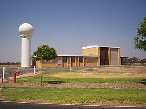 Surface weather observation - Weather station at Mildura Airport, Victoria, Australia.