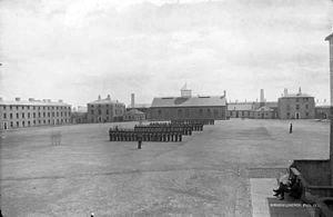 Sarsfield Barracks - Sarsfield Barracks circa 1880
