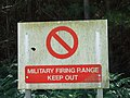 Military Firing Range Sign - geograph.org.uk - 517551.jpg