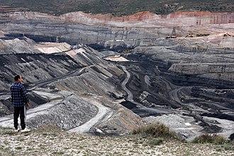 Estercuel - Coal mine in Estercuel