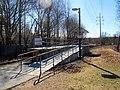 Mini-high platform at Needham Junction station, March 2016.JPG