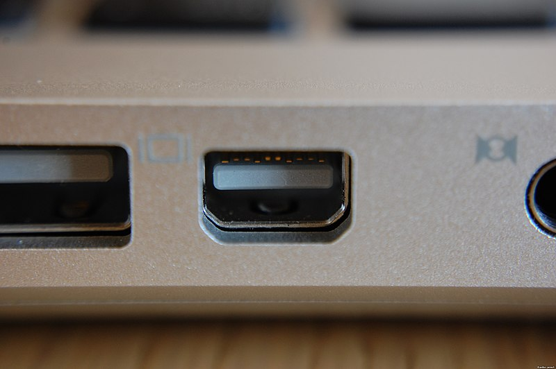 File:Mini DisplayPort on Apple MacBook.jpg