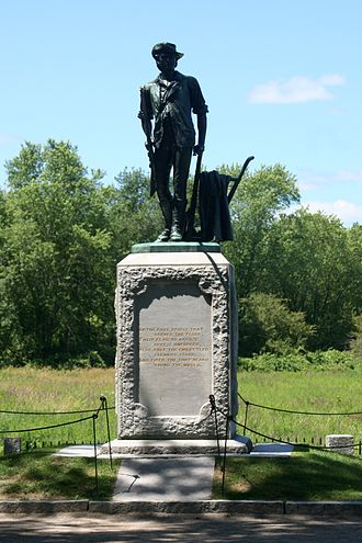 Francis Smith (British Army officer) - There are numerous monuments commemorating the events of 19 April 1775. This one is located at the Old North Bridge, Concord.