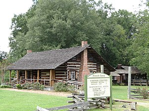 French Camp. Historic Mississippi cabin.