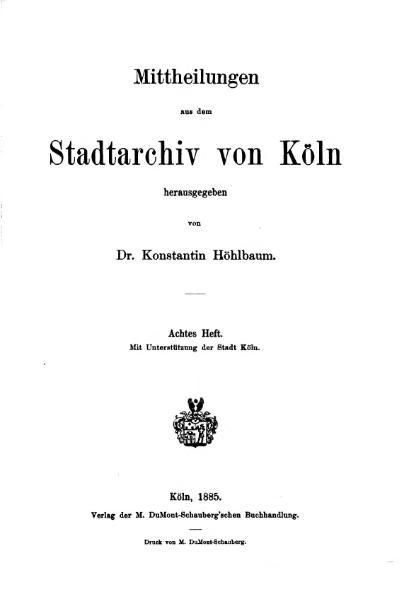 File:Mitteilungen aus dem Stadtarchiv von Köln 1885-8.djvu