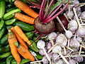 Mixed vegetables. Cucumbers, carrots, beetroots, garlic.jpg
