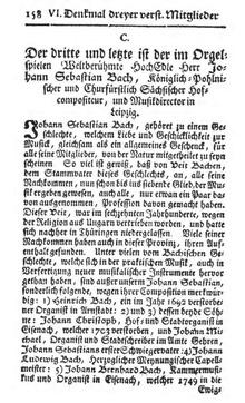 première page de la nécrologie de Carl Philip Emanuel et Agricola