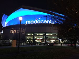 Moda Center - The Moda Center at night