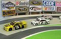 Model Nascar Sprint cars in action.JPG